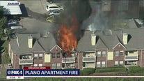 Apartment complex burns in northwest Plano