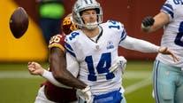 Dalton hurt, Washington defense clamps down to beat Cowboys