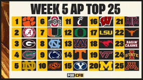 AP Top 25: Oklahoma out; SMU at No. 18