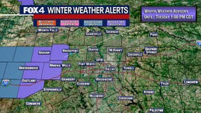 Winter Weather Advisory issued for western portions of North Texas until Tuesday