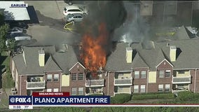 Apartment complex burns in northwest Plano