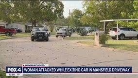Mansfield PD looking for man accused of attacking woman in her driveway