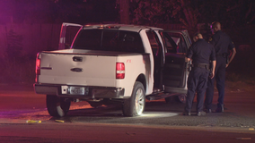 Man found shot in crashed pickup truck in Dallas