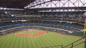 Braves and Dodgers face off in first baseball game with fans at Globe Life Field