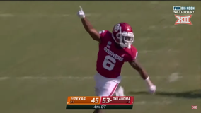 Oklahoma outlasts No. 22 Texas 53-45 in 4-overtime thriller