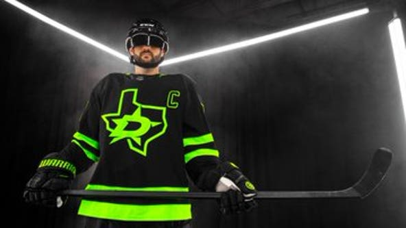 Dallas Stars unveil 'Blackout' alternate jersey