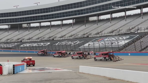 NASCAR playoff race at TMS still on hold because of rain