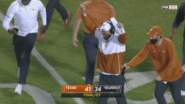 Ehlinger's TD pass helps Texas beat No. 6 Oklahoma St. in OT