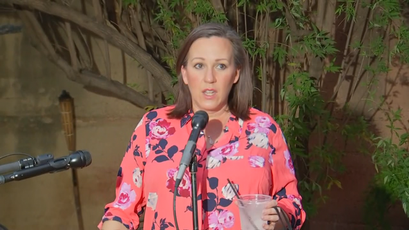 Senate candidate MJ Hegar visits voters in DeSoto