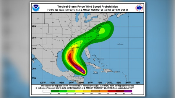Zeta strengthens into hurricane before hitting Mexico, US