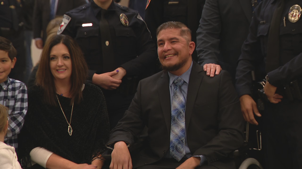 Denton police officer honored a year after being shot in the line of duty