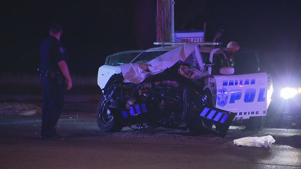 Man with 2 kids in vehicle charged with DWI after crashing into Dallas PD vehicle
