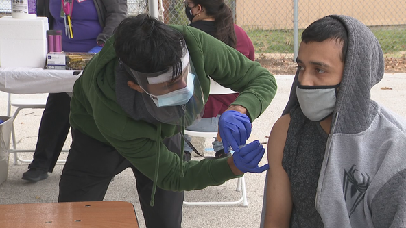 Parkland Hospital hosts drive-thru flu shot clinic at Dallas high school