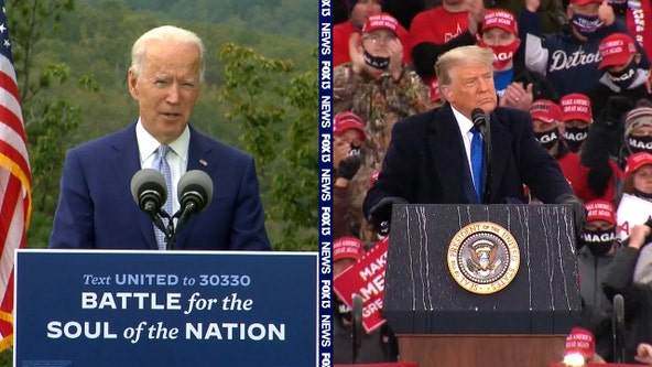 Trump, Biden both holding Thursday rallies in Tampa as campaigns face final days before Election Day