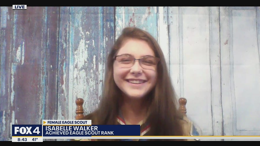 Cedar Hill student becomes one of the first female Eagle Scouts