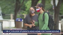 Amid COVID-19 surges, North Texas college students head home for Thanksgiving