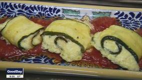 Zucchini Rolls with Herbed Ricotta and Caciotta