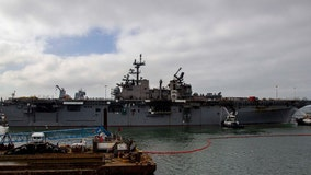 Navy will decommission warship damaged by suspected arson fire