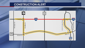 Construction work to shut down parts of I-30 in Arlington this weekend