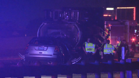 2 dead, 2 injured after vehicle burst into flames after crashing into construction truck on I-20