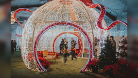 Globe Life Field opens to the public for Luminova Holidays with holiday lights, ice skating