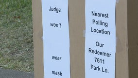 Some Dallas County poll workers opt not to wear masks on Election Day