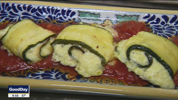 Zucchini Rolls with Herbed Ricotta and Caciotta