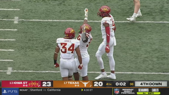 Hall's late TD lifts No. 15 Iowa State over No. 20 Texas