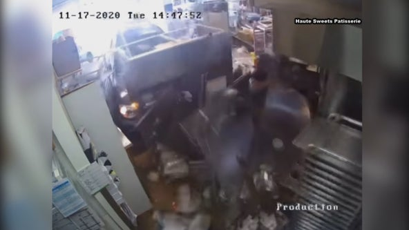 Video shows SUV barrel through Northeast Dallas bakery