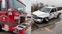 Fire truck struck by driver while working crash on I-20 in Parker County
