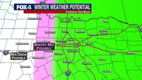 Parts of North Texas could get some wintry mix Thursday night