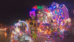 Frisco family continues tradition of putting up massive holiday lights display