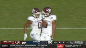 Mond, No. 5 Texas A&M finish strong in 31-20 win over Auburn
