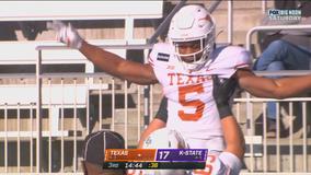 Texas RBs pile up 311 yards, 6 TDs, clobber K-State 69-31