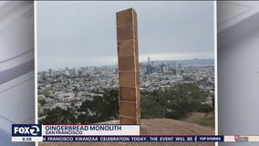 Holiday mystery: Gingerbread monolith appears in SF park on Christmas Day