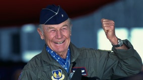 Chuck Yeager, the first man to break the sound barrier, dead at 97