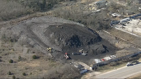 Removal of 'shingle mountain' in Dallas now underway