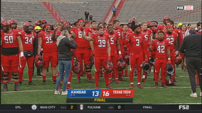 Texas Tech escapes Kansas 16-13 without coach Wells