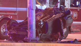 Overnight crash in West Dallas leaves one dead