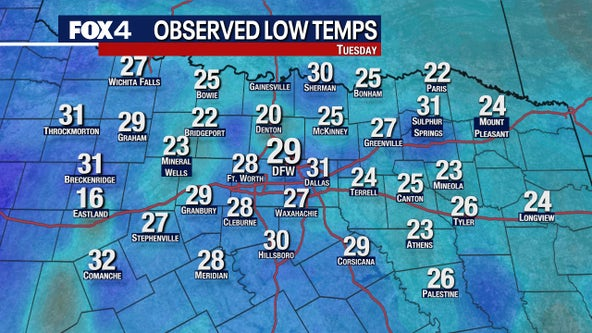Welcome to Decembrrr! DFW sees its first official freeze of the season