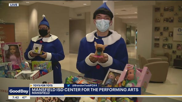 Mansfield students collecting toys for Toys for Tots