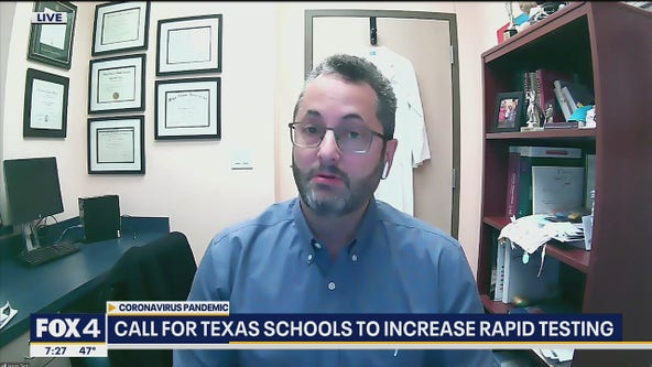 Medical group calls for Texas schools to increase rapid testing