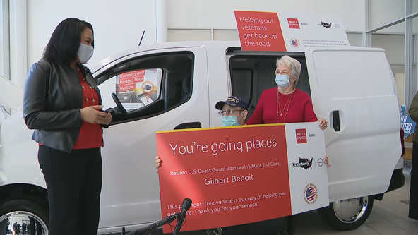 Disabled North Texas veteran surprised with new van