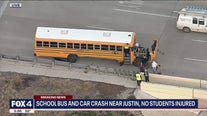 Driver killed after crashing with school bus near Justin
