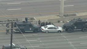 Standoff blocking traffic on I-20 in Dallas County ends with suspect's arrest