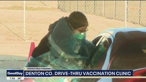 Denton County holds drive-thru vaccination clinic
