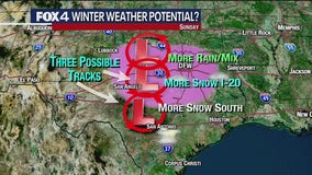 Snow possible in the Dallas-Fort Worth area on Sunday