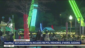 Winter festival going on now at Six Flags Over Texas