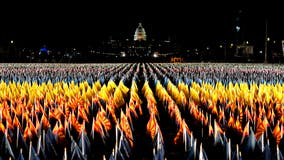 DC's National Mall lit up with 'Field of Flags' ahead of 'unprecedented' inauguration