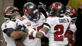 Buccaneers' defense helps Brady top Brees; NFC championship up next